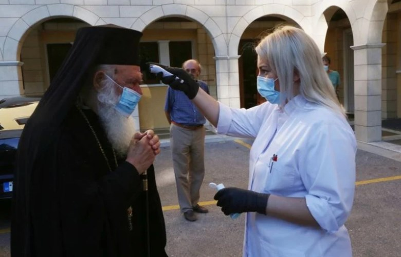 Μήνυμα Ιερώνυμου: Προσήλθε με μάσκα στη Διαρκή Ιερά Σύνοδο