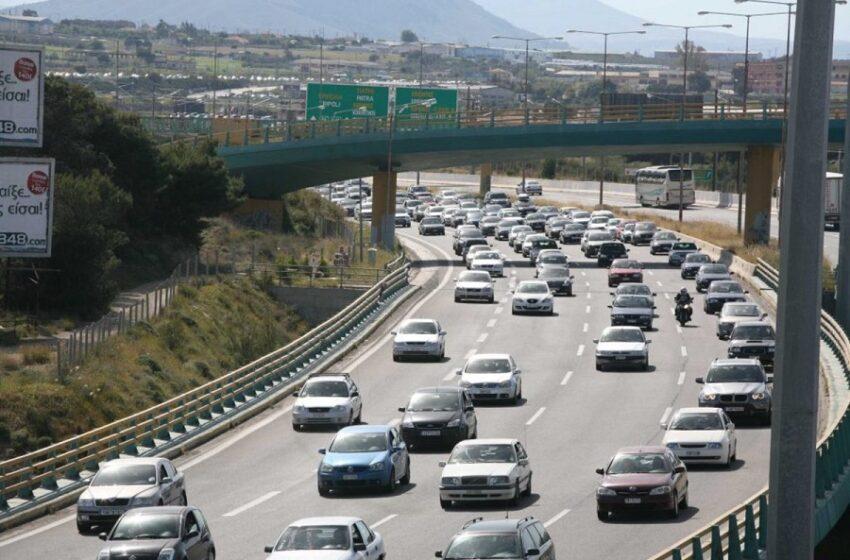 Μποτιλιάρισμα στην Αθηνών Λαμίας στη Λυκόβρυση – Ανατροπή οχήματος