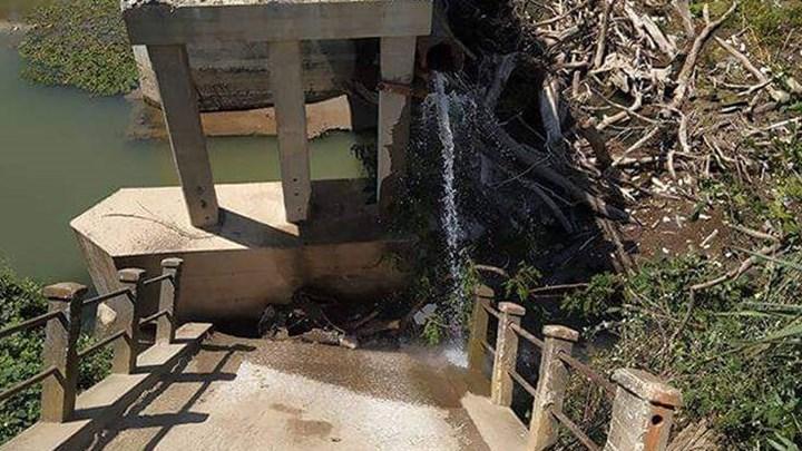 Κατέρρευσε γέφυρα στις Σέρρες (εικόνες)