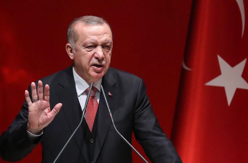 Στα άκρα η εμπρηστική ρητορική Ερντογάν: Οι Έλληνες δεν έχουν το κουράγιο να μας αντιμετωπίσουν