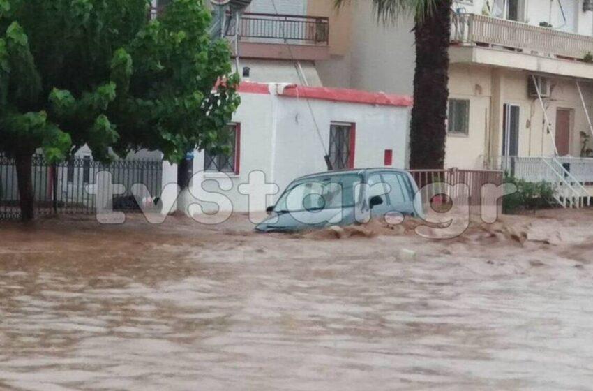 """Πλημμύρες Εύβοια: Οι κάτοικοι ζητούν βοήθεια – """"Πνίγονται άνθρωποι, ζούμε δύο φορές Μάνδρα"""""""