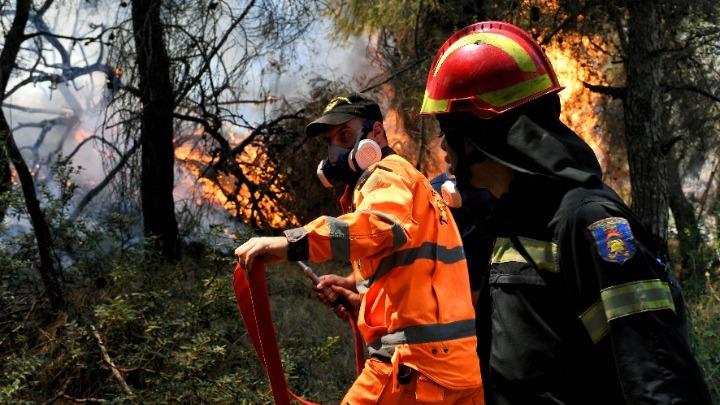Ηράκλειο: Πυρκαγιά στην Αγία Πελαγία κοντά σε ξενοδοχειακές μονάδες και σπίτια