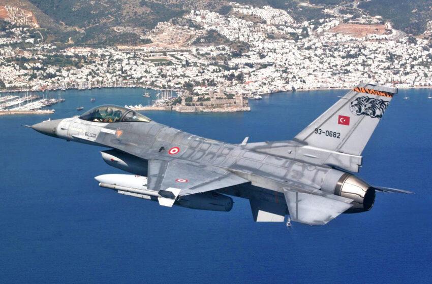 Τουρκικό F 16 παρ' ολίγο να πέσει στη Χίο
