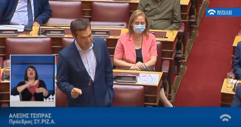 Απάντηση Τσίπρα σε Μητσοτάκη: Αν υπογράφαμε, θα μας κρεμάγατε στο Σύνταγμα (vid)