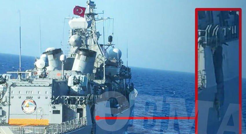"""Ντοκουμέντο: Η ζημιά στην """"Kemal Reis"""" από τη σύγκρουση με τη  """"Λήμνος"""""""