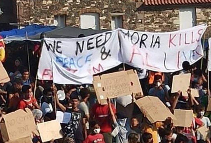 Λέσβος: Έκρυθμη η κατάσταση – Διαμαρτυρία προσφύγων στο νέο καταυλισμό Καρά Τεπέ