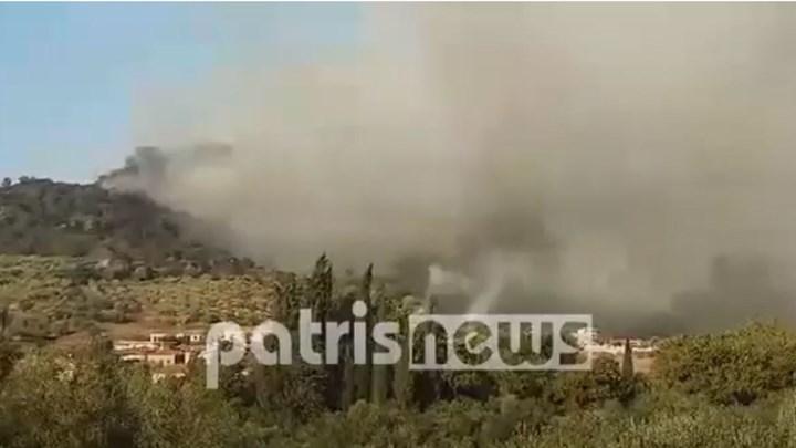 Μεγάλη πυρκαγιά στην Ηλεία – Εισήγηση για εκκένωση του χωριού Δάφνη (vid)