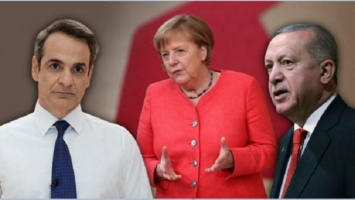 """Το Βερολίνο πιέζει: Ολοταχώς για επικοινωνία Μητσοτάκη-Ερντογάν και τριμερή- """"Κρυφός"""" στόχος να μην ληφθεί απόφαση για κυρώσεις στη Σύνοδο Κορυφής"""