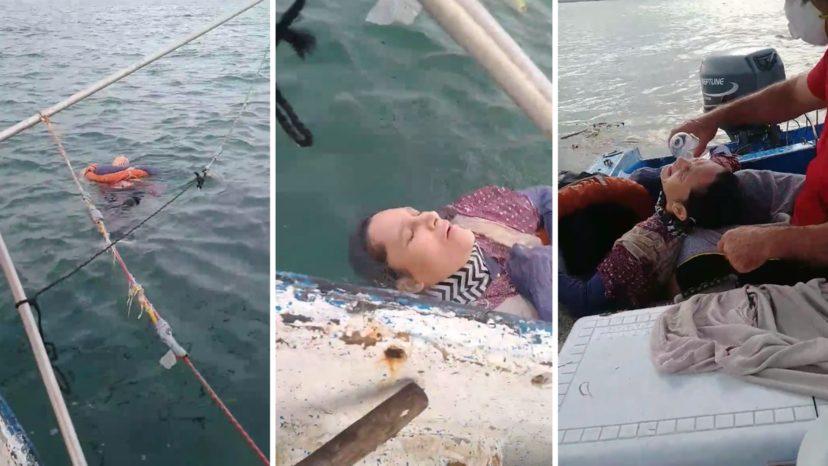 Η στιγμή της διάσωσης γυναίκας στη θάλασσα που αγνοείτο επί δύο χρόνια  – Η ιστορία της είναι πιο συγκλονιστική (vid)