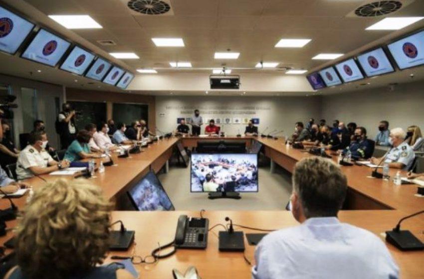 Σε εξέλιξη σύσκεψη για τον «Ιανό» στην Πολιτική Προστασία