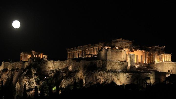 Ο νέος φωτισμός της Ακρόπολης (vid)