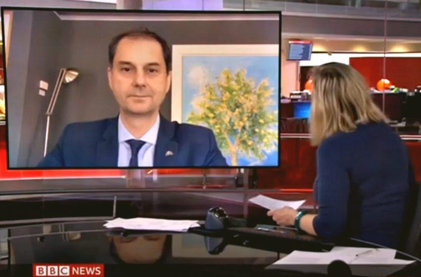 """Πιάστηκε απροετοίμαστος – Επικοινωνιακή """"γκάφα"""" Θεοχάρη στο BBC (vid)"""