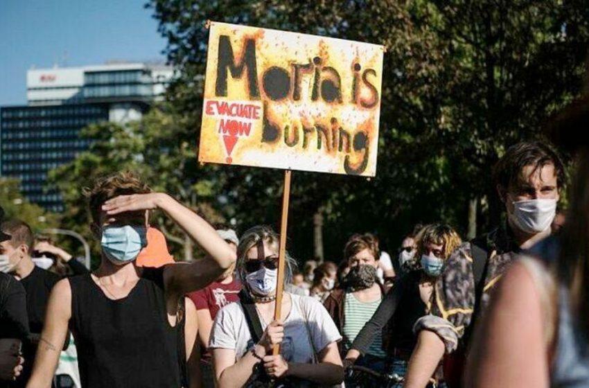 """Διαδηλώσεις στο Βερολίνο: """"Η Μόρια καίγεται"""""""