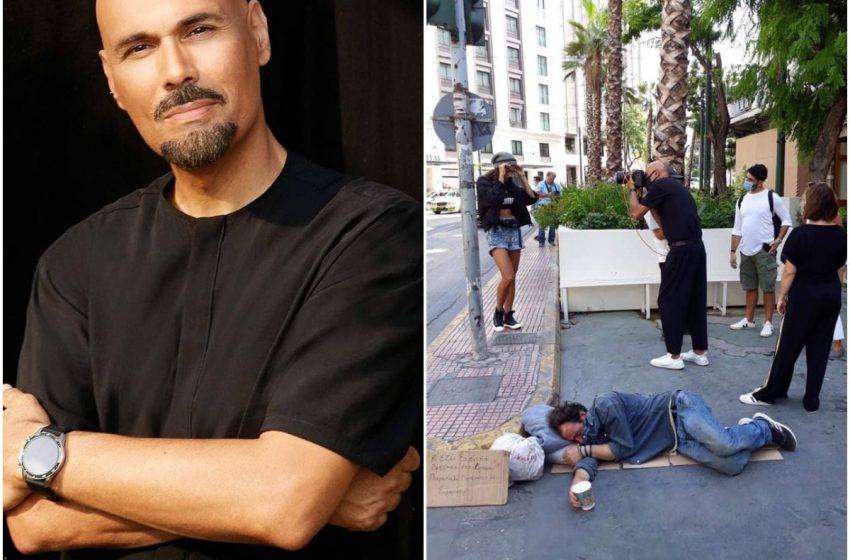 Σάλος και με το GNTM: Ο Σκουλός φωτογραφίζει επίδοξα μοντέλα ενώ δίπλα κοιμάται άστεγος (εικόνα,vid)