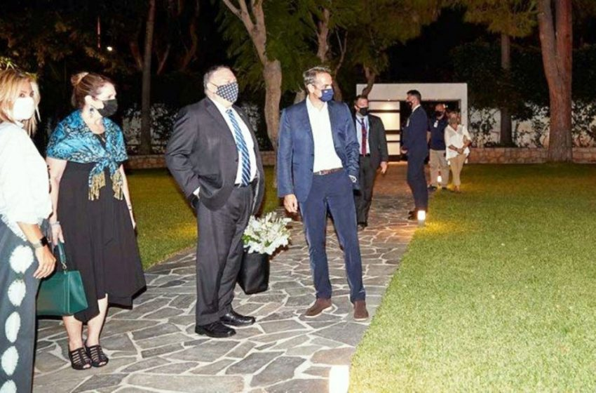 Ο Μάϊκ Πομπέο στην οικία Μητσοτάκη- Τι συζήτησαν (pics,vid)