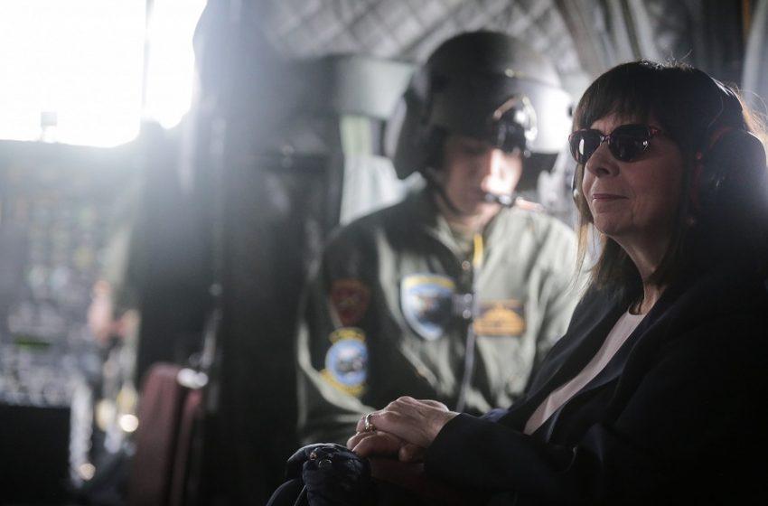 Καστελόριζο: Έφθασε χωρίς απρόοπτα το ελικόπτερο της ΠτΔ Κ. Σακελλαροπούλου