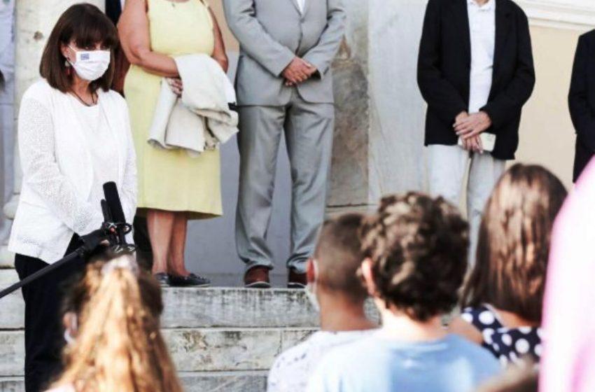 Tο μήνυμα της Προέδρου της Δημοκρατίας στους μαθητές του Καστελορίζου