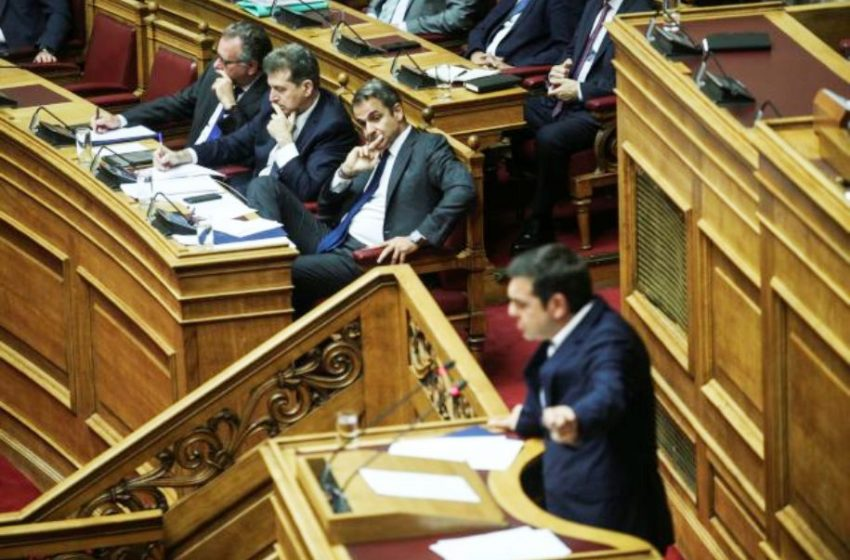 """Μητσοτάκης : """"Γραφικό να αποκαλεί εμένα «πολιτικό απατεώνα» ο κ. Τσίπρας"""""""