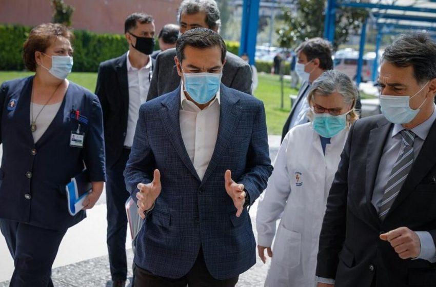 Επίσκεψη του Αλέξη Τσίπρα στο νοσοκομείο Ευαγγελισμός