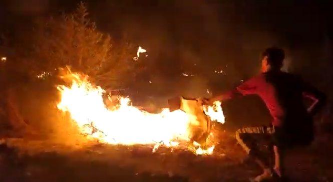 Βίντεο από τη στιγμή που ξεκινά η φωτιά στη Μόρια (vid)