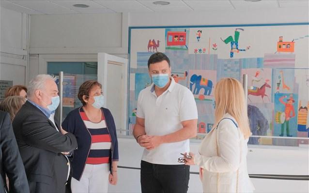 Επίσκεψη Κικίλια στο Γενικό Νοσοκομείο Παίδων Πεντέλης
