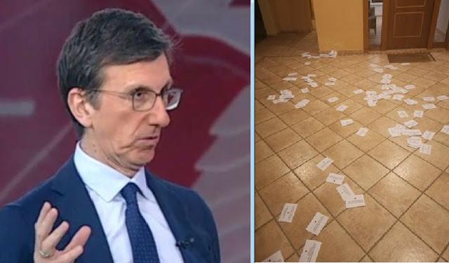 """""""Επιδρομή"""" με τρικάκια και μπογιές στο σπίτι του Άρη Πορτοσάλτε-Καταδικάζει ο Στ. Πέτσας"""