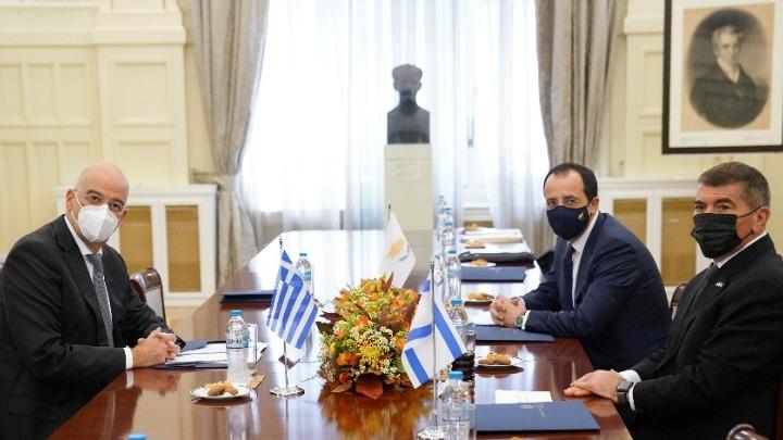 Δένδιας: Οι σχέσεις Ελλάδας, Κύπρου, Ισραήλ αποτελούν εγγύηση ασφάλειας στην περιοχή