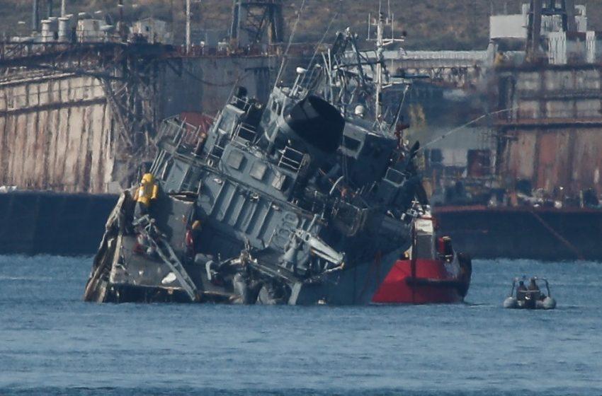"""""""Καλλιστώ"""": Ολική η καταστροφή του – Πόσο εκτιμάται η ζημιά στο πλοίο του Πολεμικού Ναυτικού"""
