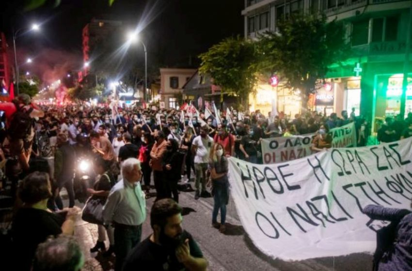 Αντιφασιστική πορεία στην Θεσσαλονίκη (vid)
