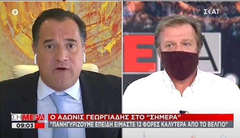 Έξαλλος ο Γεωργιάδης για την κριτική: Ναι πανηγυρίζουμε που είμαστε καλύτερα σε νεκρούς από το Βέλγιο (vid)