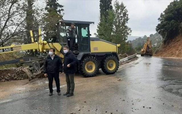 Παραμένει κλειστός λόγω κατολισθήσεων ο δρόμος Ποταμιών-Οροπεδίου  στο Λασίθι