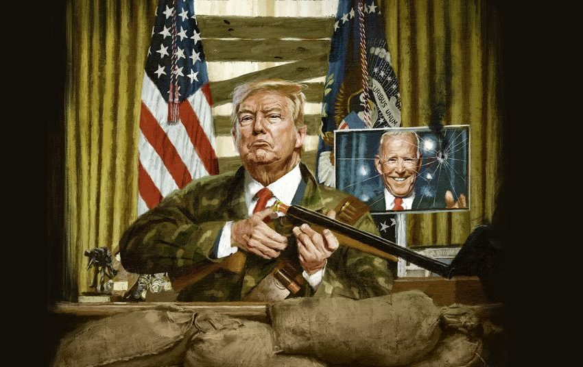 """Το εντυπωσιακό εξώφυλλο του Spiegel για τον """"καταληψία"""" Τραμπ"""