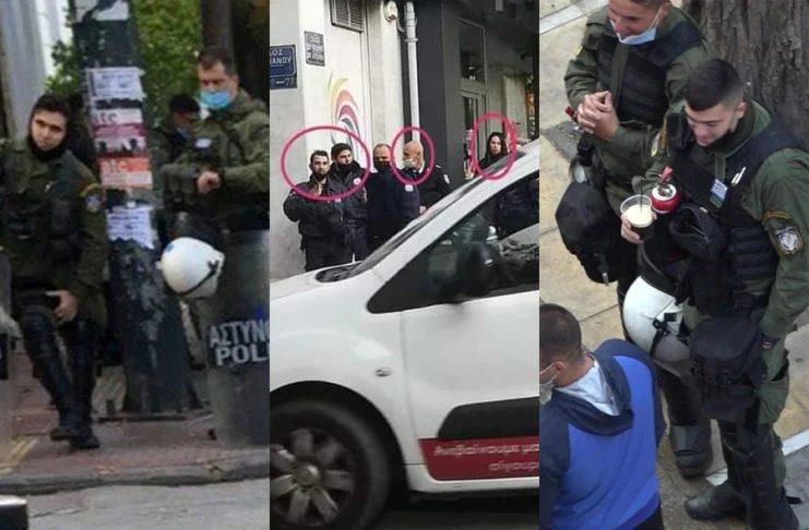 """Σάλος στο twitter: Υγειονομική """"βόμβα"""" οι αστυνομικοί χωρίς μάσκα – Ξυλοκοπούν όμως πολίτες για να… τους προστατεύσουν από τον κοροναϊό"""