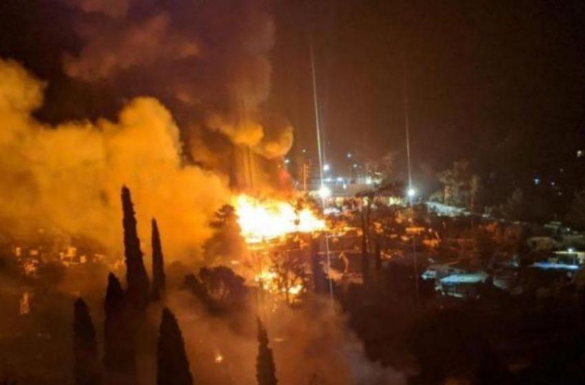 Σάμος: Μεγάλη φωτιά στο ΚΥΤ