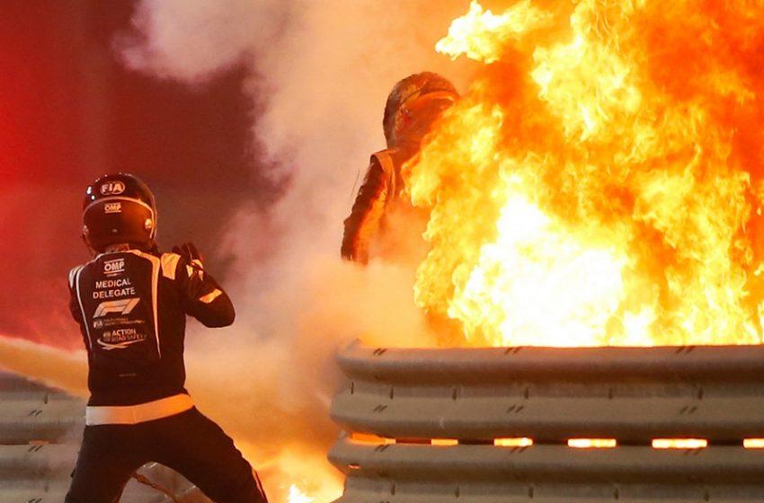 Νέο βίντεο από το τρομακτικό ατύχημα στη F1 – Ο Γκροζάν έμεινε 19 δεύτερα στις φλόγες του μονοθεσίου (vid)
