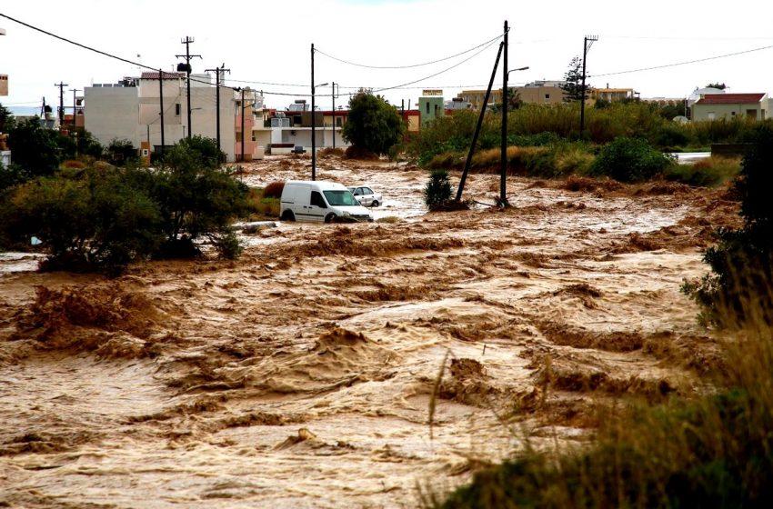 Κινδύνεψαν άνθρωποι στην Κρήτη – Βίντεο με διάσωση εγκλωβισμένων – Εικόνες ολικής καταστροφής (εικόνες, vid)