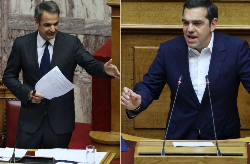 """Βουλή: """"Μετωπική"""" Μητσοτάκη με Τσίπρα – """"Ρίχνετε λάσπη"""" – """"Ιδού ποιοι είναι τα τρολ του διαδικτύου"""" (vid)"""