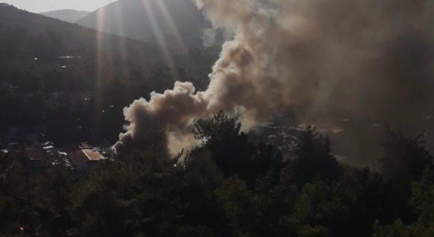 Σάμος: Φωτιά στο ΚΥΤ, ακούστηκαν εκρήξεις