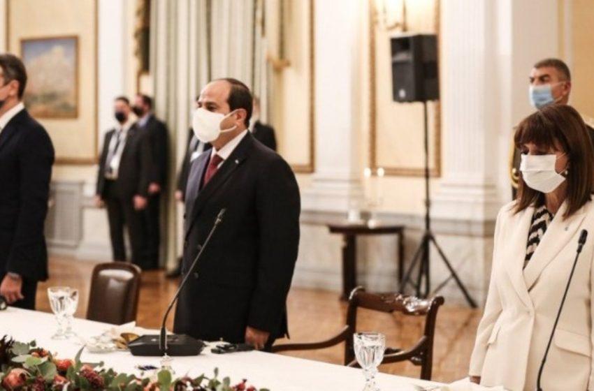 Σακελλαροπούλου – Αλ Σίσι: Στρατηγική συνεργασία Ελλάδας-Αιγύπτου και την ανάγκη διατήρησης της ασφάλειας στην Αν. Μεσόγειο