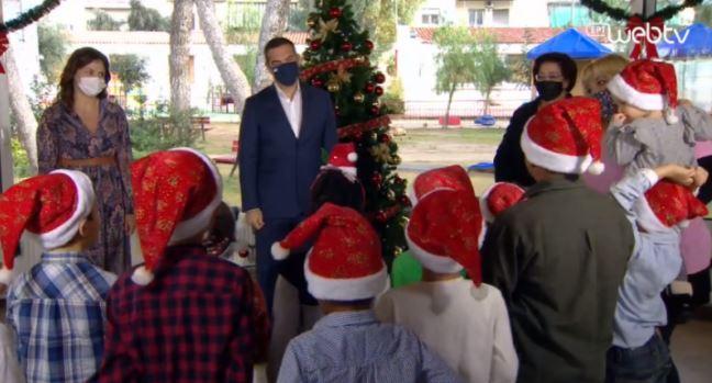 Κάλαντα από τα παιδιά του Πρότυπου Εθνικού Νηπιοτροφείου στον Αλέξη Τσίπρα (vid)