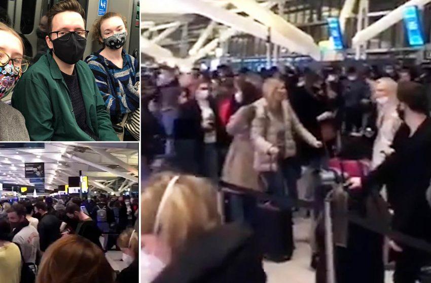 Χαοτικές εικόνες σε αεροδρόμια της Ευρώπης (vid)