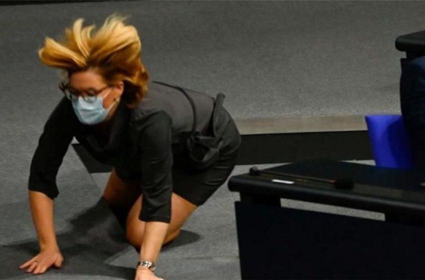 Η επική…τούμπα της «νέας Μέρκελ» στο γερμανικό κοινoβούλιο (vid)
