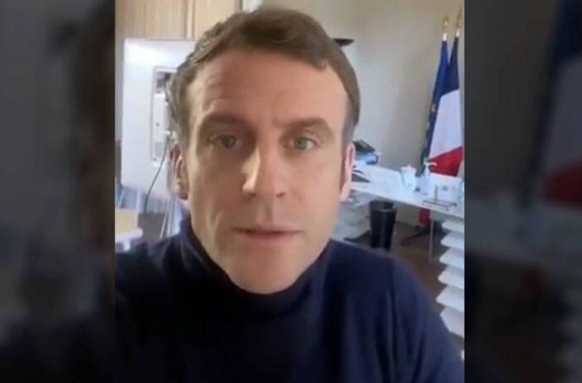 """Μήνυμα Μακρόν στους Γάλλους: """"Είμαι καλά"""" (vid)"""