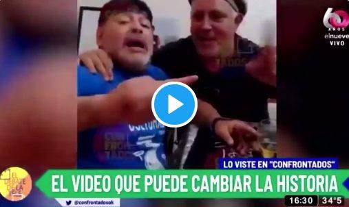 Πρώτο θέμα στην Αργεντινή το νέο βίντεο με τον Μαραντόνα –  Τον δείχνει να πίνει, να καπνίζει με ένα κουτί χάπια στο τραπέζι (vid)
