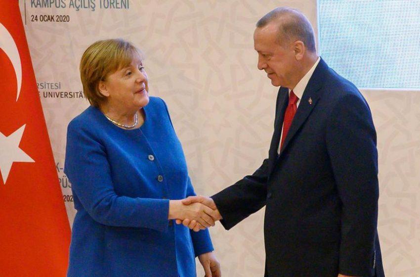 """Ευχαριστίες Ερντογάν σε Μέρκελ μέσω τηλεδιάσκεψης:Για """"παράθυρο ευκαιρίας με την ΕΕ""""  μίλησε ο Τούρκος πρόεδρος"""