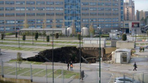 Τρομερό ατύχημα: Καθίζηση με βάθος 20 μέτρων σε πάρκινγκ νοσoκομείου covid