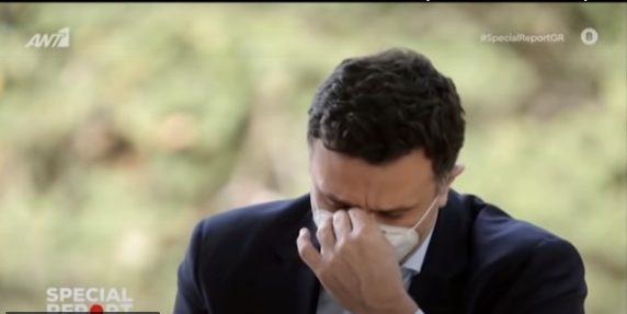 Ο Β. Κικίλιας έκλαψε on air για τους γιατρούς και το υγειονομικό προσωπικό (vid)