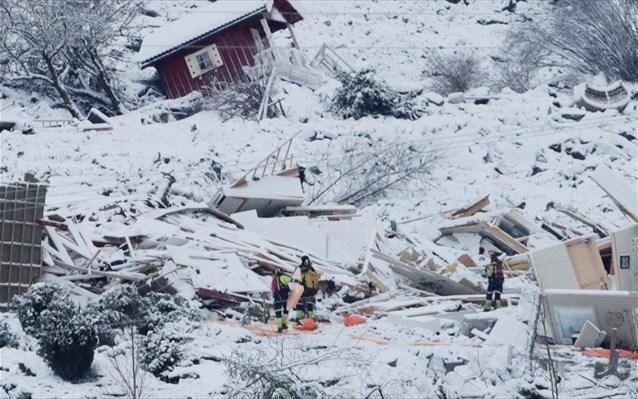Έναν νεκρό ανέσυραν οι αρχές από την κατολίσθηση στη Νορβηγία