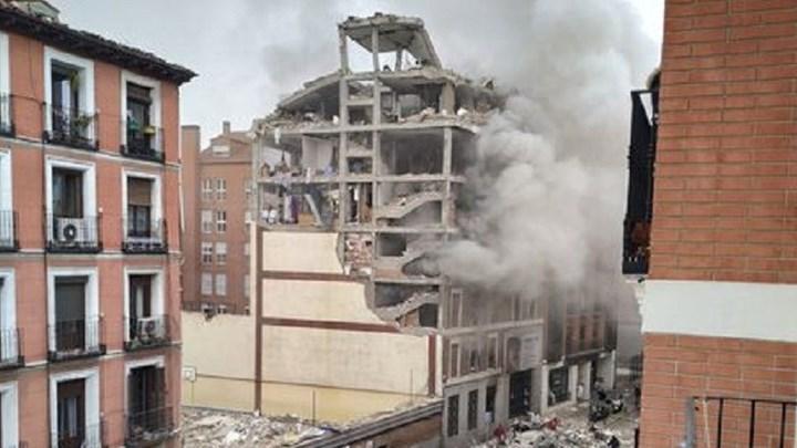Ισχυρή έκρηξη σε κτίριο στο κέντρο της Μαδρίτης – Ισοπεδώθηκαν τρεις όροφοι (vids-εικόνες)