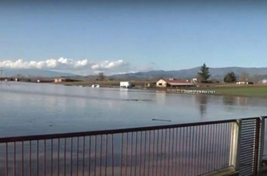 Σέρρες: Ο κάμπος έγινε λιμνοθάλασσα (vid)